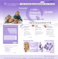 Diseño Web de Clinica Ribera Dental